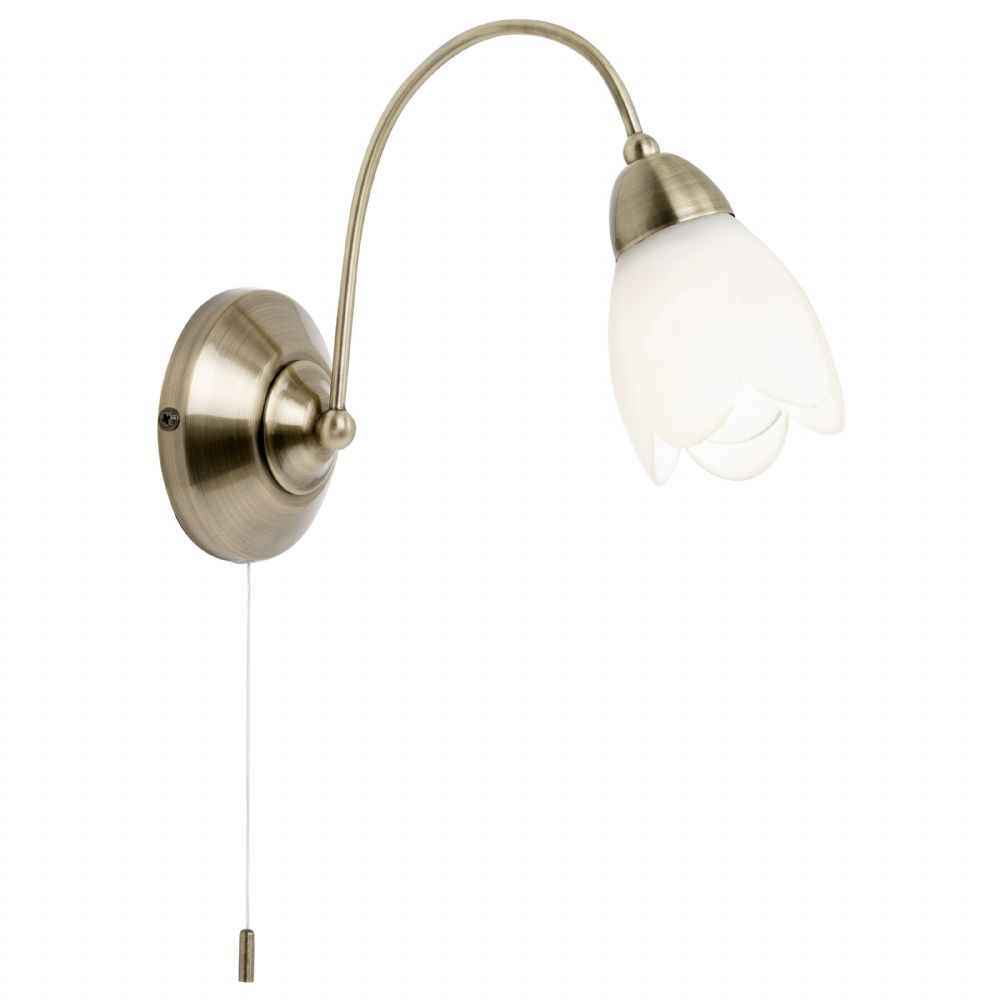 1 Light Wall Bracket In Antique Brass 124-1WBAB